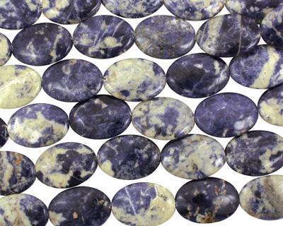 Bolivian Sodalite Flat Oval 35x25mm