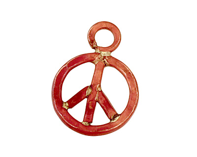 Patricia Healey Copper Peace Charm 13x18mm