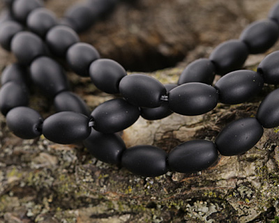 Black Onyx (matte) Rice 9x6mm