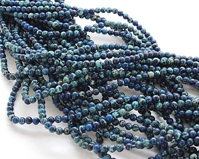 Midnight Blue Impression Jasper Round 4mm