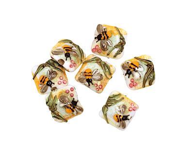 Grace Lampwork Bumble Bee Garden Pillow 15mm