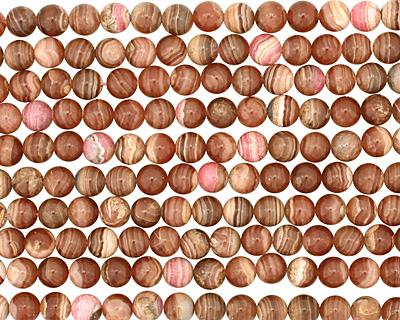 Brown Rhodochrosite Round 8-9mm