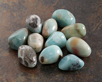 Black Gold Amazonite Large Tumbled Nugget 35-48x23-33mm