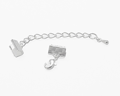 Artistic Wire Silver (plated) Mesh Clasp (w/ Extension Chain & Lobster Clasp) 10mm