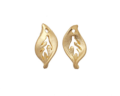 Ezel Findings Gold (plated) Sweet Crab Leaf 5x10mm