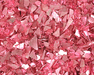 Pink Coral Vintage Glass Glitter (Shards) 1 oz.