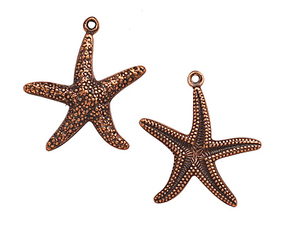 Stampt Antique Copper (plated) Starfish 20x22mm