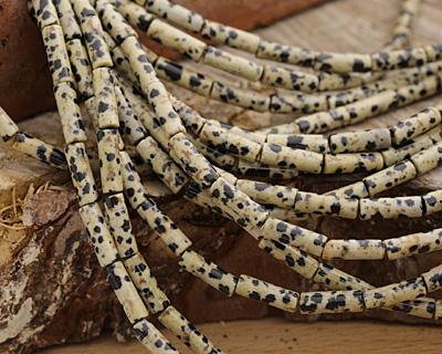 Dalmatian Jasper Tube 13x4mm