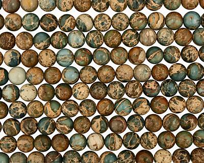 Blue Impression Jasper Round 12mm
