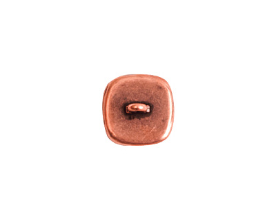Nunn Design Antique Copper (plated) Small Square Frame Button 13mm