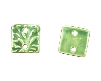 Earthenwood Studio Ceramic Apple Green Small Square Tree Link 19mm