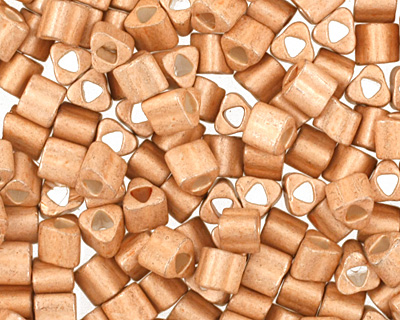 TOHO Galvanized Matte Rose Gold Triangle 11/0 Seed Bead