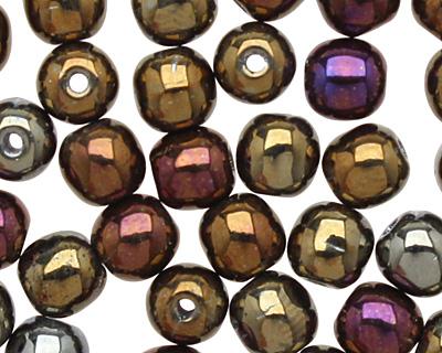 Czech Glass Iris Brown Round 4mm