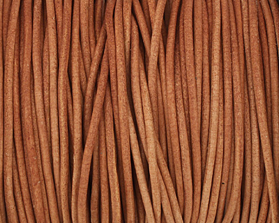 Natural Orange Round Leather Cord 2mm