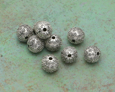 Zola Elements Antique Silver (plated) Lychee Round 14mm