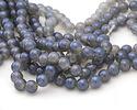 Opalite (glass) w/ Montana Blue Luster Round 10mm
