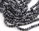 Snowflake Obsidian Faceted Round 6mm