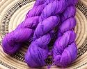 Neon Purple 100% Silk Sari Ribbon