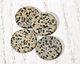 Dalmatian Jasper Thin Coin Pendant 30mm