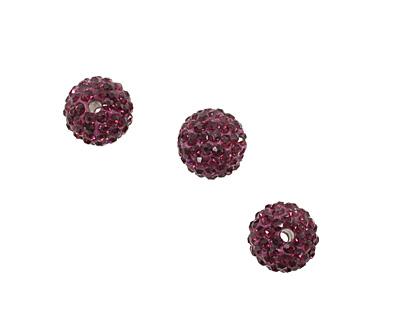 Violet Pave Round 10mm (1.5mm hole)