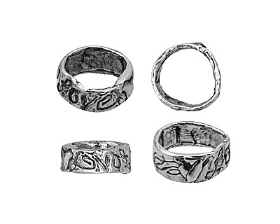 Rustic Charms Sterling Silver Love Slide 4x11mm