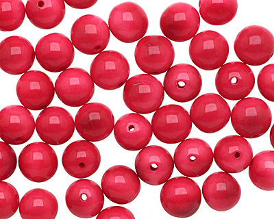 Tagua Nut Hot Pink Round 11-12mm