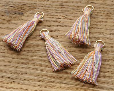 Spring Fling w/ Jump Ring Thread Tassel 30mm
