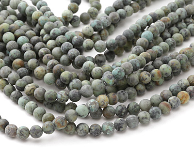African Turquoise (matte) Round 8mm