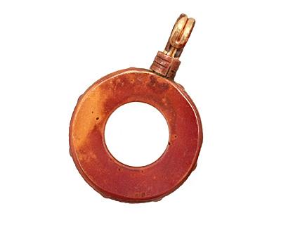 Patricia Healey Copper Small Simple Loop Bezel Pendant 26x39mm