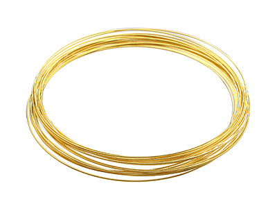 Memory Wire Gold (plated) Necklace .5 oz.