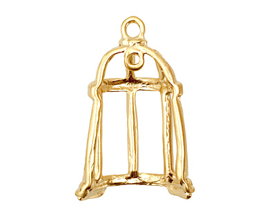 Ezel Findings Gold (plated) Bird Cage Pendant 16x31mm
