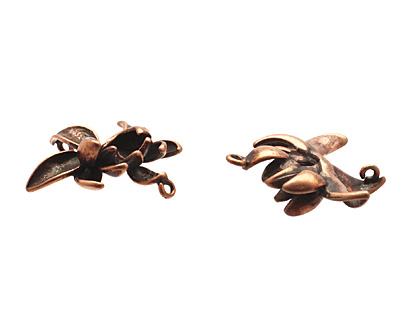Ezel Findings Antique Copper (plated) Lotus Flower 19mm