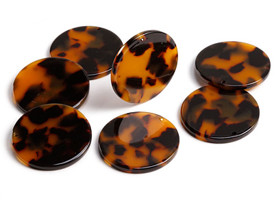 Zola Elements Tortoise Shell Acetate Coin Focal 30mm