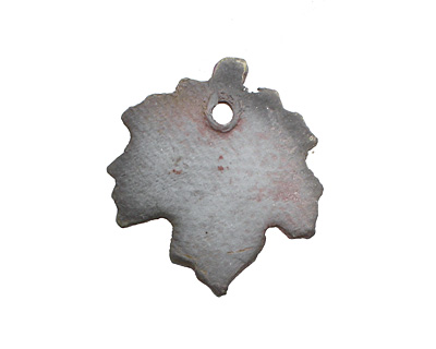 Xaz Raku Small Maple Leaf Pendant 28-30x31-34mm