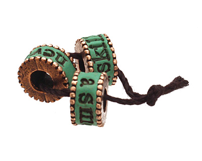 Swoondimples Polymer Clay Fern Green w/ Copper