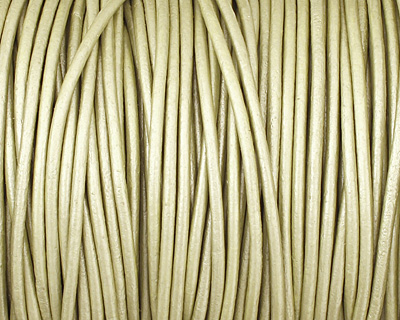 Maina (metallic) Round Leather Cord 2mm