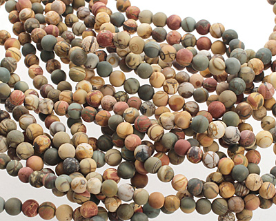 Red Creek Jasper (matte) Round 5-6mm