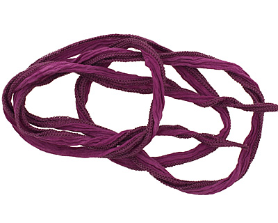 Purple Rain Hand Dyed 100% Silk Ribbon 1/2