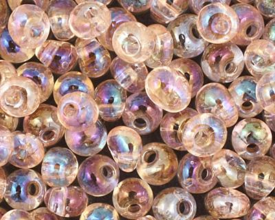 TOHO Transparent Rainbow Rosaline Magatama 3mm Seed Bead