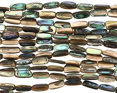 Abalone Irregular Thin Pillow 15-17x6-9mm