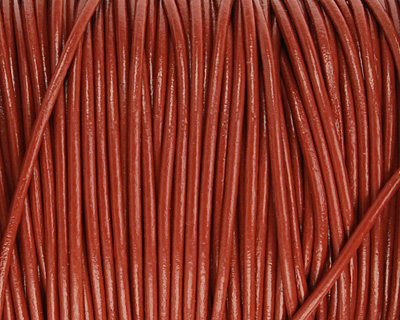 Brick Round Leather Cord 2mm