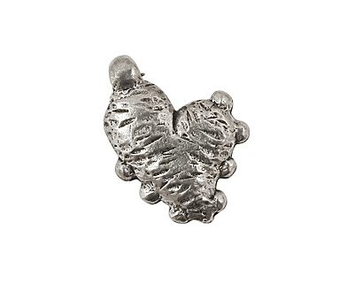 Green Girl Pewter Je T'adore Heart Pendant 18x24mm