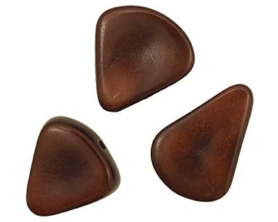 Tagua Nut Dark Brown Banana Chip 22-29x16-22mm
