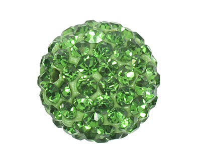 Grass Green Pave Round 12mm (1.5mm hole)
