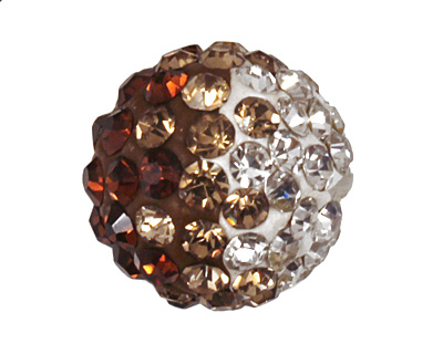 Topaz/Crystal Ombre Pave Round 10mm (1.5mm hole)