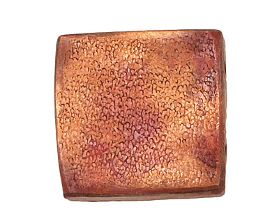 Patricia Healey Copper 2 Hole Textured Square 19mm