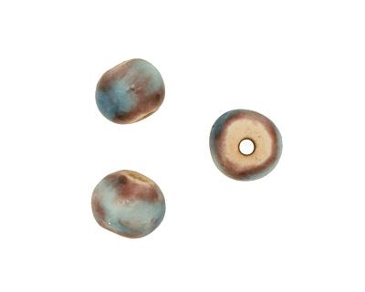 Gaea Ceramic Teal Organic Round 9-10x12-13mm