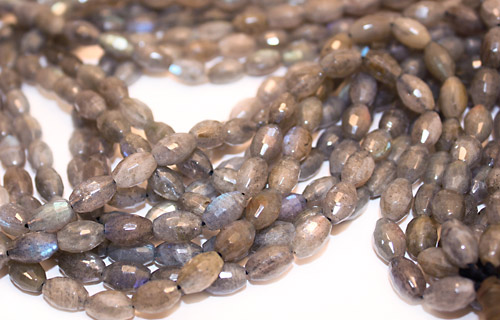 Labradorite Faceted Rice 10x6mm