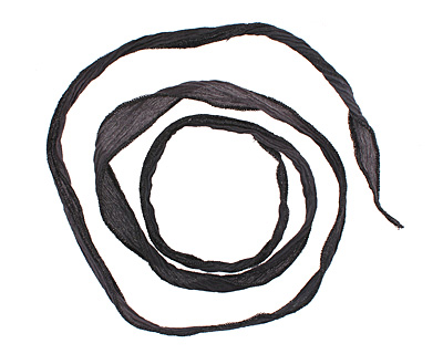 Midnight Sparkle Hand Dyed 100% Silk Ribbon 1/2