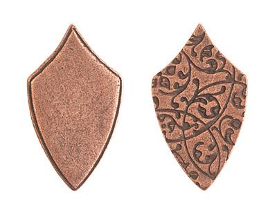 Nunn Design Antique Copper (plated) Crest Regiment Tag 16x29mm